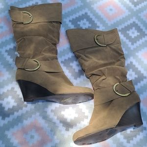 Rue21 Slouchy Mid Calf Boots